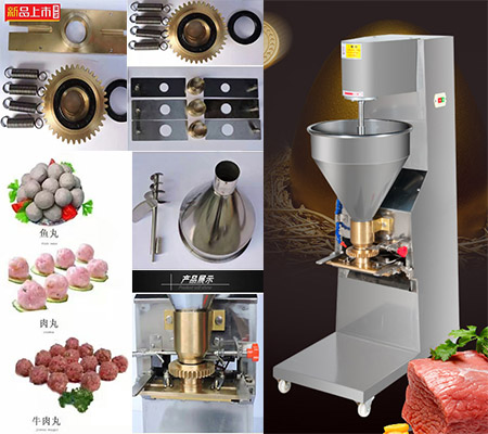 Diameter 15mm to 28mm solid meat ball stainless steel 260 pieces meatball making machine