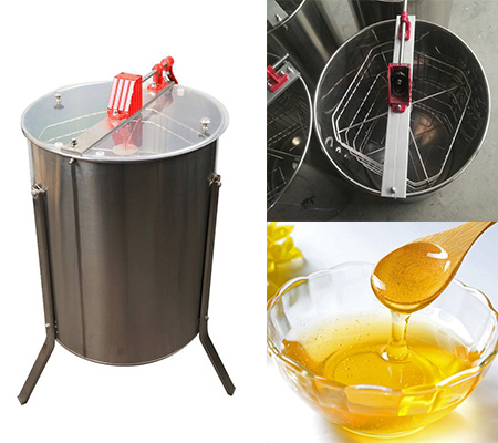 3/4/6/8/12 Frame Stainless Steel Manual Honey Extractor