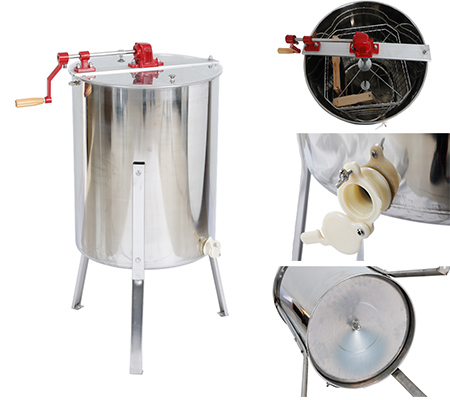 Hot sale food grade 4 frame handle honey extractor