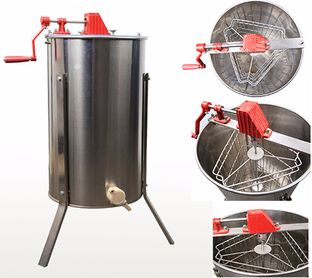 3 frame manual honey bee extractor machine